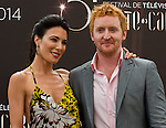 Jaime Murray, Tony Curran attends photocall at the Grimaldi Forum on June 9, 2014 in Monte-Carlo, Monaco.