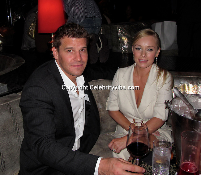 David Boreanaz and Jaimie Bergman..Us Weekly Hot Hollywood Style Issue Party..Drai's Hollywood Nightclub..Hollywood, CA, USA..Thursday, April 22, 2010..Photo ByCelebrityVibe.com.To license this image please call (212) 410 5354; or Email:CelebrityVibe@gmail.com ;.website: www.CelebrityVibe.com.