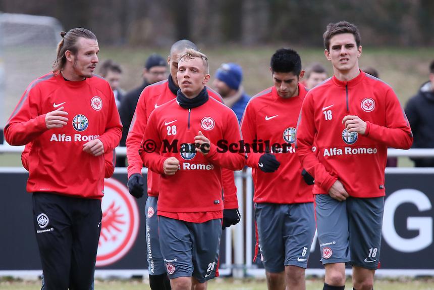 Alex Meier, Sonny Kittel, Johannes Flum - Eintracht Frankfurt Training, Commerzbank Arena