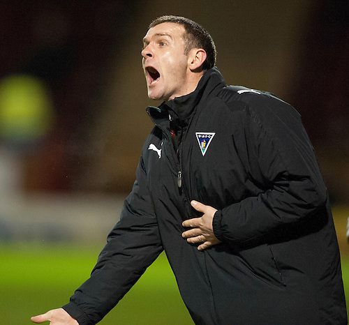 PICTURE BY - ROB CASEY .DESCRIPTION - MOTHERWELL v DUNFERMLINE.PIC SHOWS - DUNFERMLINE BOSS JIM MCINTYRE