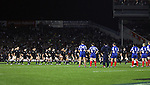 The All Blacks perform the haka before the first international rugby test at Eden Park, Auckland, New Zealand, Saturday, June 02, 2007. The All Blacks beat France 42-11.