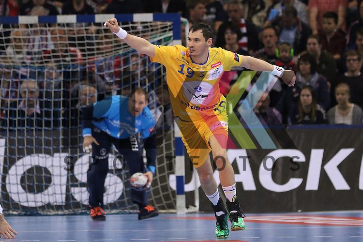 Flensburg, 23.04.16, Sport, Handball, VELUX EHF Champions League, Viertelfinale, SG Flensburg-Handewitt - KS Vive Tauron Kielce : Jubel / Torjubel bei Krzysztof Lijewski (KS Vive Tauron Kielce, #19)<br /> <br /> <br /> Foto &copy; PIX-Sportfotos *** Foto ist honorarpflichtig! *** Auf Anfrage in hoeherer Qualitaet/Aufloesung. Belegexemplar erbeten. Veroeffentlichung ausschliesslich fuer journalistisch-publizistische Zwecke. For editorial use only.