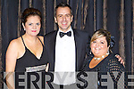 Jacqui and Bryan Cox and  Sionhan Power pictured at the charity Ball at the Ballygarry house hotel on New Years eve.