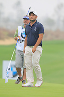 Alexander Levy (FRA) on the 14th green during Saturay's Round 3 of the 2014 BMW Masters held at Lake Malaren, Shanghai, China. 1st November 2014.<br /> Picture: Eoin Clarke www.golffile.ie
