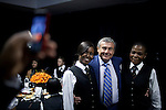 JOHANNESBURG, SOUTH AFRICA - APRIL 1: Sol Kerzner, the South African hotel magnate, poses for pictures with students at a hotel school that bears his name on April 1, 2009 in Johannesburg, South Africa. Mr. Kerzner has finally returned to SA after spending many years overseas developing hotels. He opened a One&Only Hotel in Cape Town on April 3, 2009. (Photo by Per-Anders Pettersson)