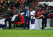 27th March 2018, Wembley Stadium, London, England; International Football Friendly, England versus Italy; England manager Gareth Southgate giving instructions to substitute Danny Rose of England from the touchline