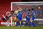 Sheffield United v Gillingham<br /> 16.11.2013<br /> Sky Bet League One.<br /> Picture Shaun Flannery/Trevor Smith Photography<br /> Chris Porter scores the equalising goal for United.