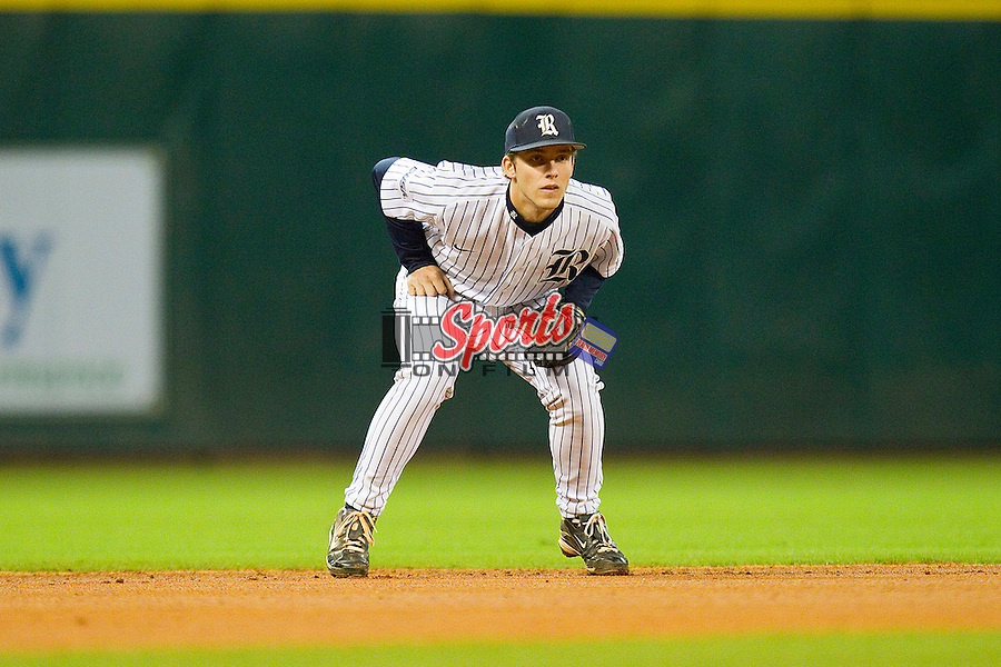 Shortstop Derek Hamilton #4 of the Rice Owls on defense against the Texas A&M Aggies at Minute Maid Park on March 5, 2011 in Houston, Texas.  Photo by Brian Westerholt / Four Seam Images