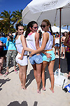 MIAMI BEACH, FL - FEBRUARY 20:  Emily Katajkowski, Sara Sampaio and Gigi Hadid participates in Sports Illustrated Swimsuit 2014 Beach Volleyball:Models & Celebrity Chefs on February 20, 2014 in Miami Beach, Florida. (Photo by Johnny Louis/jlnphotography.com)