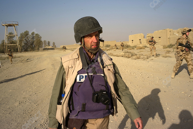 Journalist David Orr out on partrol with the Gurkhas B Co. 1 RGR  in Garmsir, Helmand, Afghanistan, November 2007.