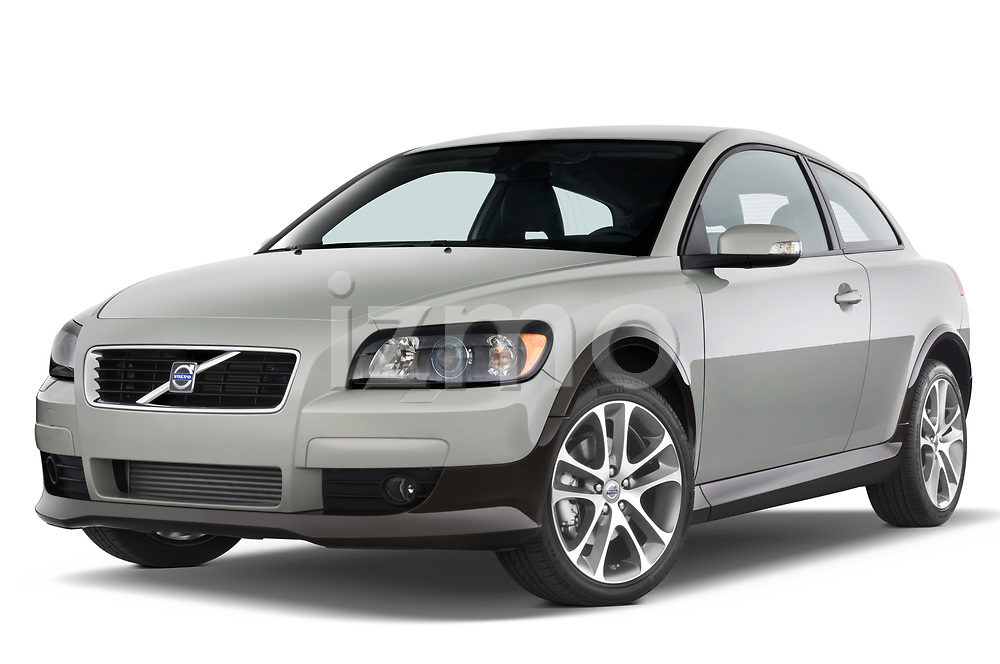 Stock pictures of low aggressive front three quarter view of 2008 Volvo C30 T5 Version 2.0 2 Door Coupe