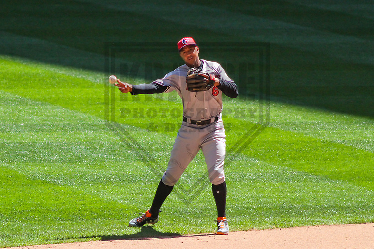 Baltimore Orioles second baseman Jonathan Schoop (6) during a Major League Baseball game against the Milwaukee Brewers on July 3, 2017 at Miller Park in Milwaukee, Wisconsin.  Milwaukee defeated Baltimore 8-1. (Brad Krause/Krause Sports Photography)