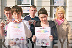 Listowel KDYS are calling on teenagers to learn a new skill with a range of new courses on offer at the KDYS centre in Listowel. .Back L-R Derice Barry, Eddie Joe Walsh and Leah Dore .Front L-R Callum Stack and Sarah Coffey
