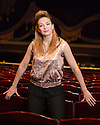 London, UK. 11.07.2014. Alevtina Ioffe, Chief Conductor of the Moscow State Music Theatre for Young Audience named after Natalia Sats,  in the auditorium of the London Coliseum, where she is conducting the orchestra for the Diaghilev Festival, July 8th - 13th. Photograph  © Jane Hobson.