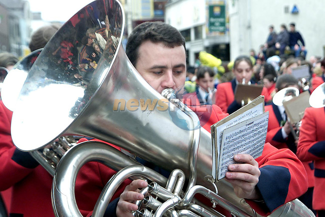 Lourdes Brass Band at the St. Patrick's Day Parade..Picture Paul Mohan Newsfile
