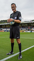 Referee Darren Deadman during the Sky Bet League 2 match between Wycombe Wanderers and Hartlepool United at Adams Park, High Wycombe, England on 5 September 2015. Photo by Andy Rowland.