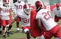 NWA Democrat-Gazette/DAVID GOTTSCHALK   Arkansas Razorback defensive back Kevin Richardson II runs through  drills Friday, July 28, 2017, during practice on campus in Fayetteville.