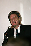 March 8, 2010 - Tokyo, Japan - French Junior Minister for Development in the capital region Christian Blanc delivers a speech at a lunch organised by the CCIFJ (Chambre de Commerce et d'Industrie Francaise au Japon) in Tokyo, Japan, on March 8, 2010. (Photo Laurent Benchana/Nippon News)