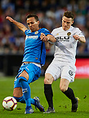 17th March 2019, Mestalla Stadium, Valencia, Spain; La Liga football, Valencia versus Getafe; Nemanja Maksimovic of Getafe tackles Kevin Gameiro of Valencia CF