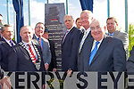 Minister of Defence Tony Kileen unveils a plaque at the opening of the Castleisland By-pass on Friday