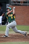 February 21, 2010:  Catcher Gary DerHagopian (9) of the Siena Saints during a game at Melching Field at Conrad Park in DeLand, FL.  Siena lost to Stetson by the score of 8-7.  Photo By Mike Janes/Four Seam Images