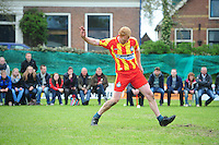 KAATSEN: WEIDUM: Kaatsvereniging 'Nije Kriich', 29-04-2012, Bangmapartij, Finale Goutum - Minnertsgea, Eindstand 5-4 (6-4), Chris Wassenaar, ©foto Martin de Jong