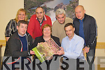 Cathal O'Grady, Killarney Lions Club, pictured as he presented the proceeds of their calendar in conjunction with the Killarney Camera Club, to Marie Linehan, CEO Kerry Parents and Friends, on Monday night. Also pictured are Seamus Long, Marie Lyne Kelly, Martin O'Brien, John O'Callaghan and Tim O'Leary. ......................