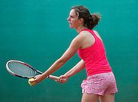 August 12, 2014, Netherlands, Raalte, TV Ramele, Tennis, National Championships, NRTK,  Lucky van Gennip (NED)<br /> Photo: Tennisimages/Henk Koster