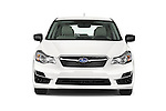 Car photography straight front view of a 2015 Subaru Base Impreza 5 Door Hatchback