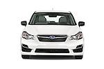 Car photography straight front view of a 2015 Subaru Base Impreza 5 Door Hatchback