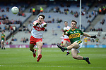 17-1-2017: Kerry's Chris O'Connor drives towards goal in the All-Ireland Football final at Croke Park on Sunday.<br /> Photo: Don MacMonagle