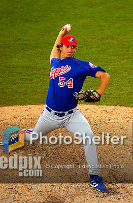 23 March 2003: Montreal Expos pitcher Zach Day on the mound in a Spring Training game against the Baltimore Orioles at Fort Lauderdale Stadium in Fort Lauderdale, FL. Mandatory Credit: Ed Wolfstein Photo