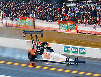 Mar 17, 2018; Gainesville, FL, USA; NHRA top fuel driver Audrey Worm during qualifying for the Gatornationals at Gainesville Raceway. Mandatory Credit: Mark J. Rebilas-USA TODAY Sports