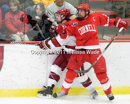 Danny Fick (Harvard - 7), Joe Devin (Cornell - 22) - The visiting Cornell University Big Red defeated the Harvard University Crimson 2-1 on Saturday, January 29, 2011, at Bright Hockey Center in Cambridge, Massachusetts.