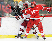 Danny Fick (Harvard - 7), Joe Devin (Cornell - 22) - The visiting Cornell University Big Red defeated the Harvard University Crimson 2-1 on Saturday, January 29, 2011, at Bright Hockey Center in Cambridge, Massachusetts.
