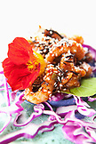 USA, Alaska, Homer, an Asian shrimp appetizer at the Saltry Cove
