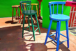 Colorful bar stools, Belize City