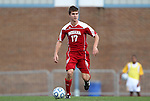 27 November 2011: Indiana's Jacob Bushue. The University of North Carolina Tar Heels defeated the Indiana University Hoosiers 1-0 in overtime at Fetzer Field in Chapel Hill, North Carolina in an NCAA Men's Soccer Tournament third round game.