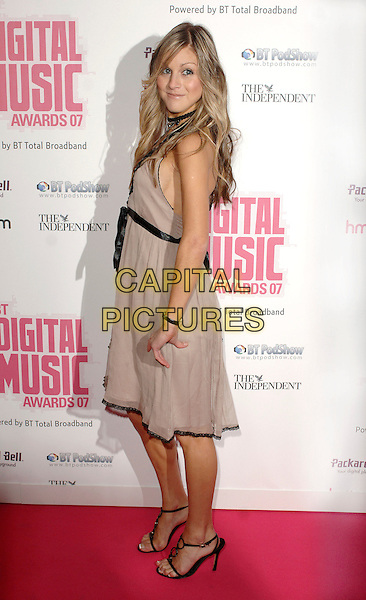 NIKKI GRAHAME.BT Digital Music Awards 2007 held at the Roundhouse, Chalk Farm, London, England..October 2nd 2007.full length Big Brother brown dress black choker beige.CAP/ BEL.©Tom Belcher/Capital Pictures.