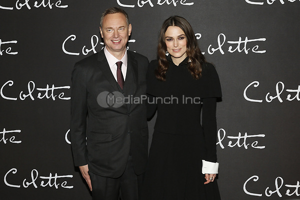 Director Wash Westmoreland and Keira Knightley at the 'Colette' Premiere at Cinema Gaumont Marignan in Paris, France on January 10, 2019. Credit: Action Press/MediaPunch ***FOR USA ONLY***