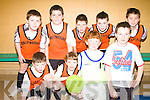 Ballyheigue under thirteen soccer team pictured at the Community Games Indoor Soccer tournament at the Community Centre Listowel on Sunday were front l-r Tim Corridan, Chris Heffernan, Arran Casey, and Jack Healy.  Back l-r Ryan Regan, Sea?n Thornton, Michael Leane, Kieran Regan and Calum Irvane...