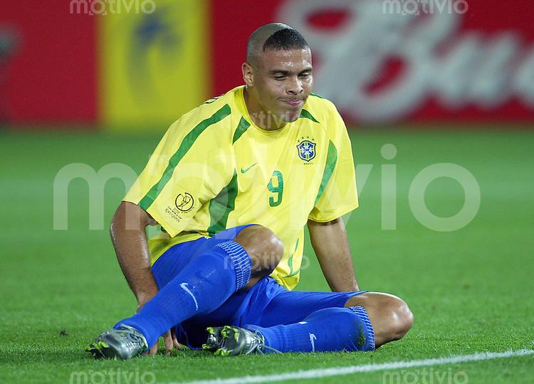 FUSSBALL  Weltmeisterschaft Japan / Suedkorea  2002       Finale 30.06.2002 Deutschland - Brasilien 0-2   RONALDO (Brasilien)