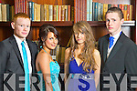 Pictured at the Castleisland Community College Debs at the Abbeygate Hotel, Tralee on Friday, from left: Eoin Murphy, Eileen Doody, Lil Reynolds and Gary Downey.