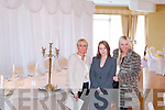 WEDDING SHOWCASE: Enjoying the Carlton hotel wedding showcase on Sunday l-r: Caroline Curley, Ballinorig, Orla Barrero (wedding coordinator Carlton hotel) and Sandra Breen, Chutehall.