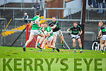 James O'Donoghue Legion and Tomas O'Sé Nemo Rangers in action during the AIB Munster club SFC clash in Pairc Uí Rinn on Sunday