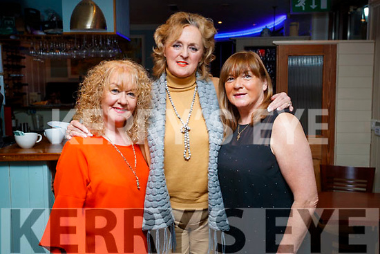 Noreen Horan, Caroline O'Regan and Kathleen Collins, enjoying a night out at Denny Lane restaurant, Tralee on Saturday night last.