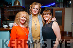 Noreen Horan, Caroline O'Regan and Kathleen Collins, enjoying a night out at Denny Lane restaurant, Tralee on Saturday night last.