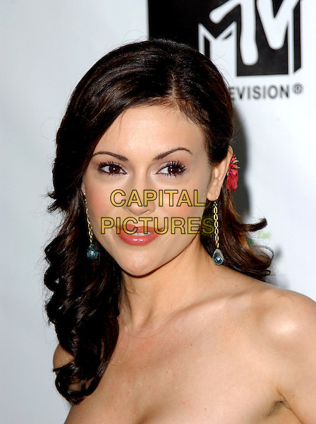 ALYSSA MILANO.Attends MTV Presents XBOX the Next Generation Revealed held at Avalon in Hollywood, California, USA, .May 5th 2005.portrait headshot.Ref: DVS.www.capitalpictures.com.sales@capitalpictures.com.©Debbie VanStory/Capital Pictures
