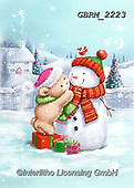 Roger, CHRISTMAS ANIMALS, WEIHNACHTEN TIERE, NAVIDAD ANIMALES, paintings+++++,GBRM2223,#xa#