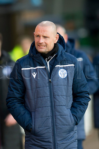 30th November 2019; Dens Park, Dundee, Scotland; Scottish Championship Football, Dundee Football Club versus Queen of the South; Queen of the South manager Allan Johnston  - Editorial Use